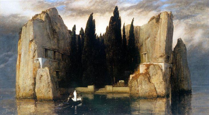 Arnold Böcklin (Swiss 1827–1901) [Symbolism] Isle of the Dead: Third version, 1883.