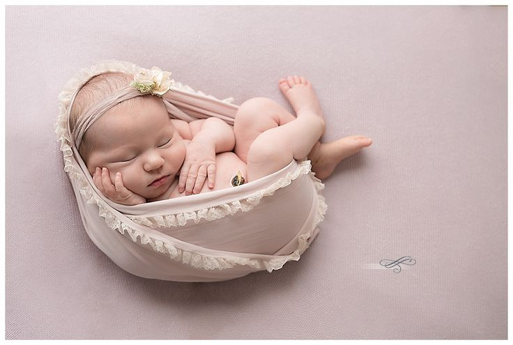 Gainesville Newborn Photographer Baby Girl Orchid Wreath