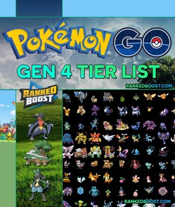 Pokemon GO Generation 4 Tier List | A List of every Gen 4 MAX CP & The Top 10 Pokemon List. View the Strongest In The Generation Update.