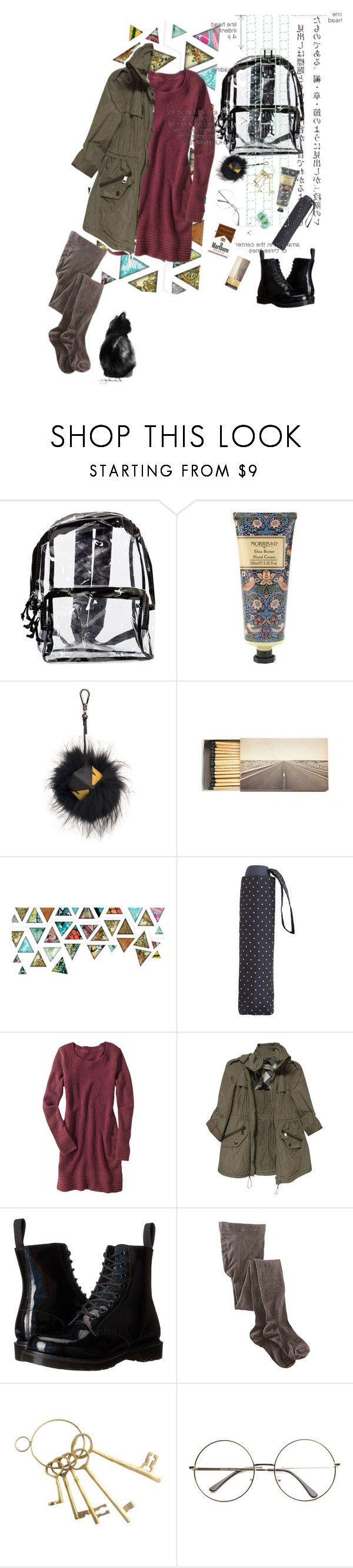 """why does it always rain on me..?"" by ghmahi ❤ liked on Polyvore featuring William Morris, Fendi, Jayson Home, Salt Water Sandals, MANGO, Shades of Grey by Micah Cohen, Title Nine, Burberry, Dr. Martens and Smartwool"