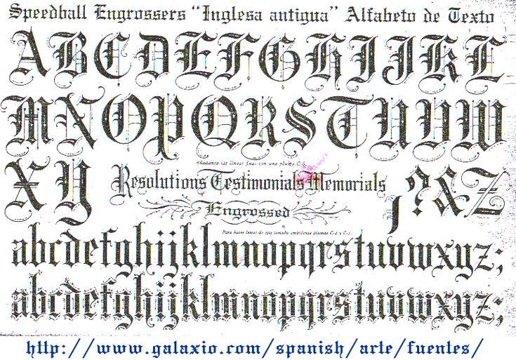 alfabeto gotica inglesa - Pesquisa Google