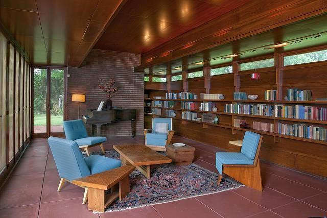 Rosenbaum House Interior 2 Florence Alabama Frank Lloyd Wright Homes I Like The Layout