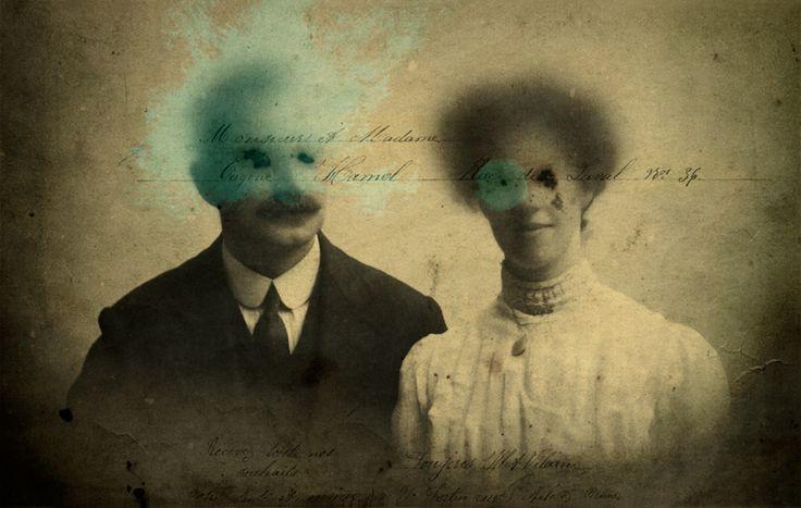 The Ghosts of Monsieur et Madame Eugène Hamel, by Giuseppe Lama - © Volcano Digital Art 2016. Art prints for sale here: https://art.tt/36m7