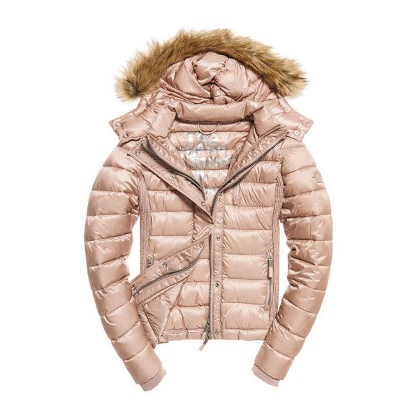 Luxe Fuji Double Zip Hooded Jacket found on Polyvore featuring outerwear, jackets, coats and fuji