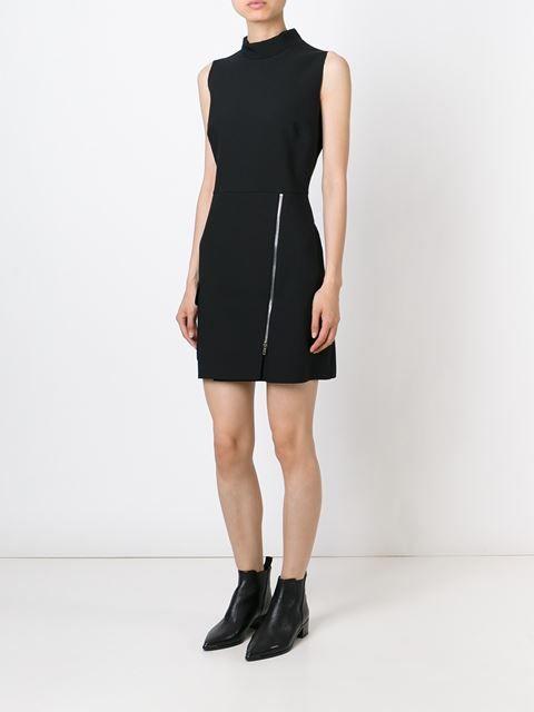 Msgm Zip Detail High Neck Dress - Di Pierro - Farfetch.com