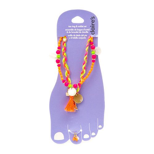 Neon Braided and Beaded Anklets are PERFECT for festivals!