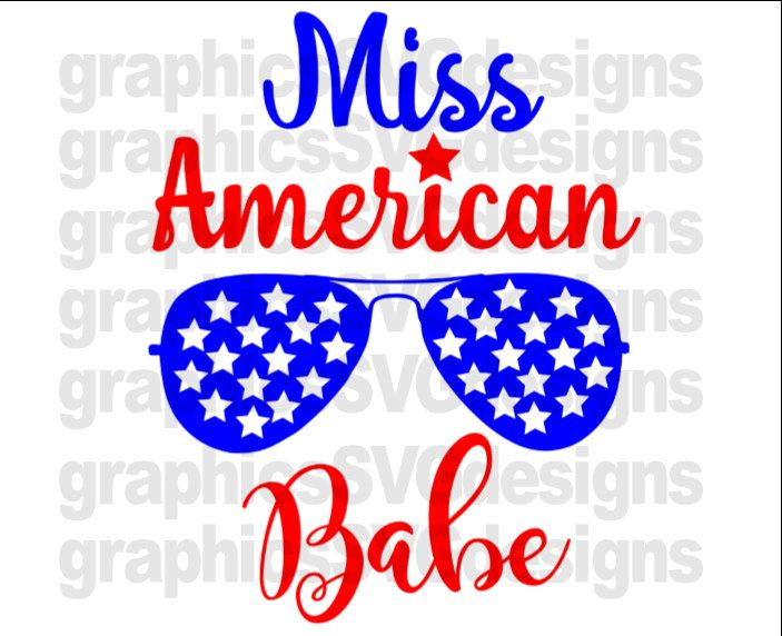 American Babe Girl 4Th Of July SVG Patriotic Svg Summer svg