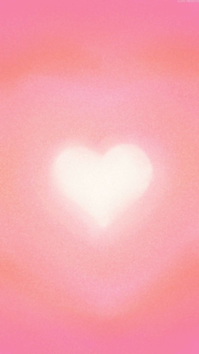 PINK WITH HEART, IPHONE WALLPAPER BACKGROUND