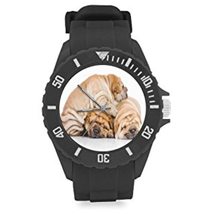 Popular Christmas Gift Three Lovely Sharpei are Sleeping Kids' Round Rubber Sport Watch * Read more reviews of the product by visiting the link on the image. (This is an affiliate link) #Accessories