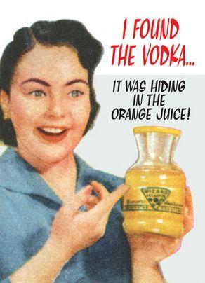 Orange Shit After Drinking Vodka
