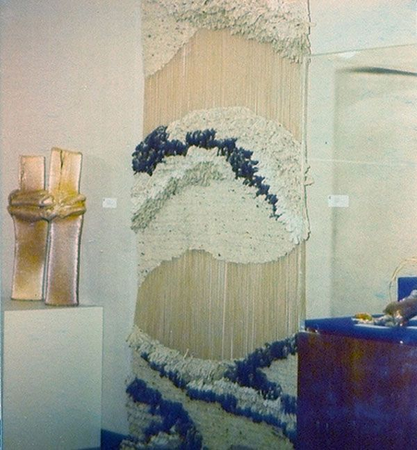 i hated these when i was younger. now, fiber art hangings look so, so chic to me