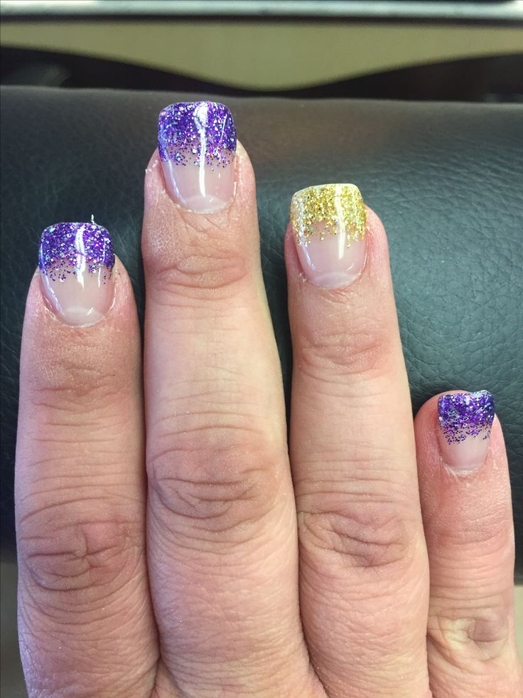 Vikings Nails #skol #Minnesota #vikings