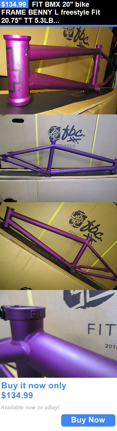 bicycle parts: Fit Bmx 20 Bike Frame Benny L Freestyle Fit 20.75 Tt 5.3Lb $Ale +Free Ship New BUY IT NOW ONLY: $134.99