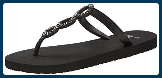 Sanuk Ellipsis Ladies Flip Flops Black - Zehentrenner für frauen (*Partner-Link)