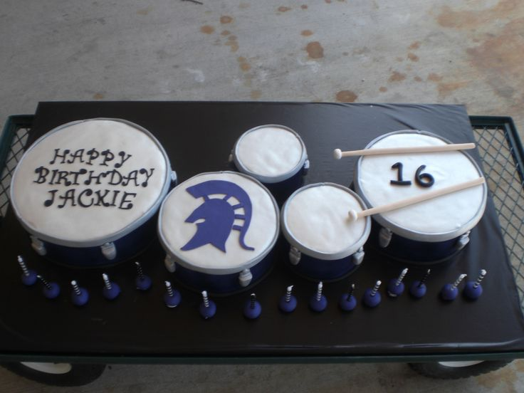 Tenor Drums All Cake Almost Full Size 18th Birthday