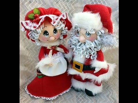 Santa and Mrs.Claus Fofucha Dolls eva foam dolls