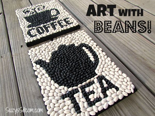 Create Art with Beans! #DIY #WallArt - Another Cent Saved