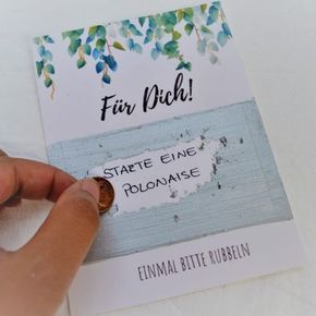 Make scratchcards for the wedding yourself