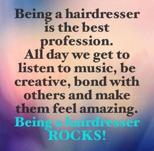 Hairdressing has been proven to be one of the happiest occupations in the UK - you lucky things! #hair #stylist #hairdresser