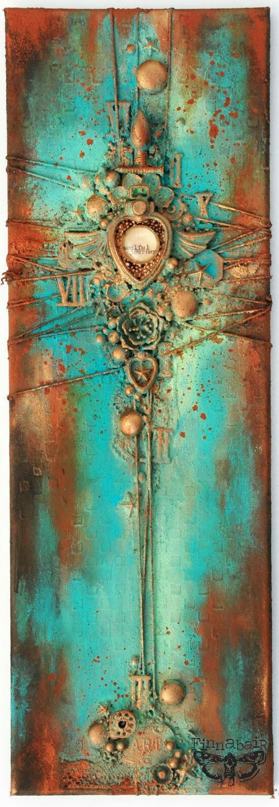 109 best finn 39 s collage images on pinterest for Mixed media canvas art ideas