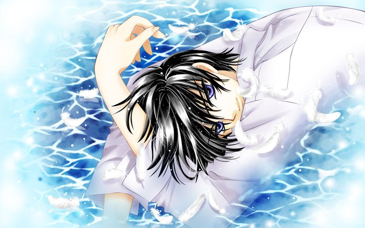 Pin By Cally Prince On Anime Photos Blue Hair Anime Boy Anime Wallpaper Anime Backgrounds Wallpapers
