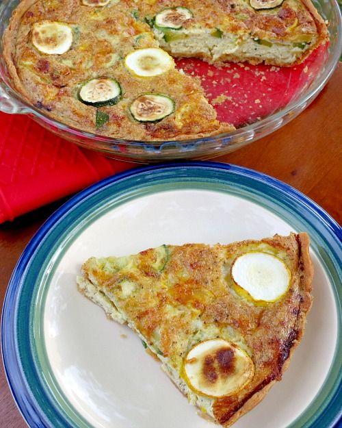 WIAW: The Pesto Infused Summer Squash and Zucchini Quiche Edition