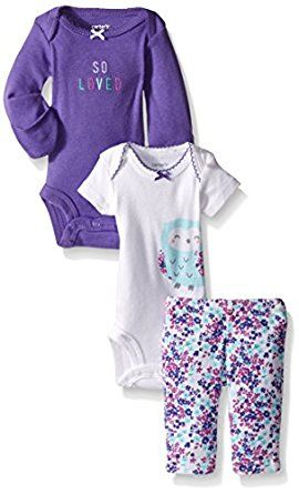 Carter's Baby Girls' 3 Piece Take Me Away Set... by Carter's http://amzn.to/2gDd6jx