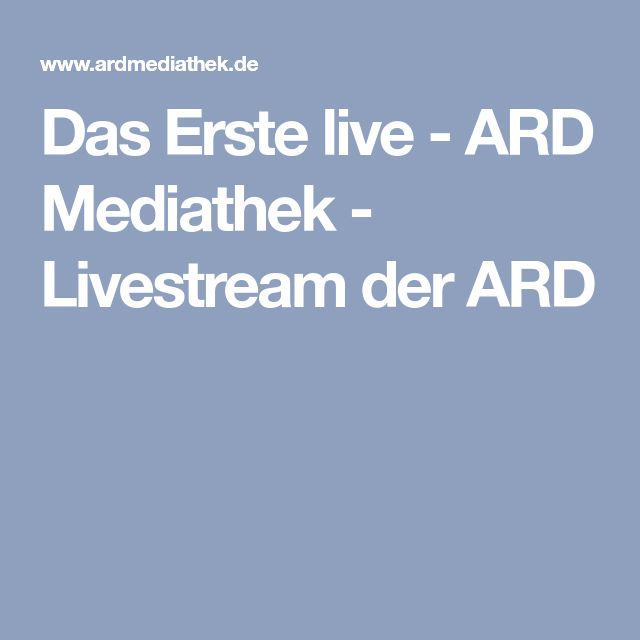 Erstes Programm Live