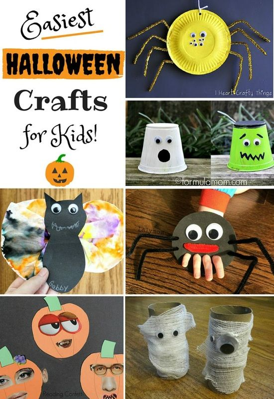 these are so easy and super cute great halloween ideas for toddlers and preschoolers - Halloween Crafts For Preschoolers Easy