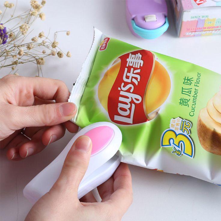 Mini hogar aperitivos sellador de bolsas de plástico sellado de la máquina máquina Del tipo de presión de mano portátil de viaje caliente accesorios de cocina