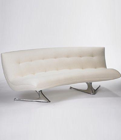 Vladimir Kagan Unicorn Curved Sofa. @designerwallace