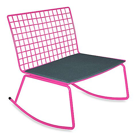 Idea Nuova Modern Rocking Chair In Pink Dorm Room