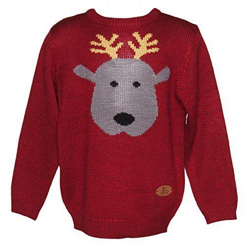 Rudy Rentier Kinder Weihnachtspullover von Crazy Granny Clothing