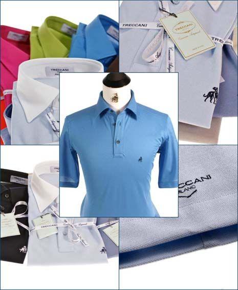 Luxury Brand, Custom Golf Polo Shirts from Treccani Milano