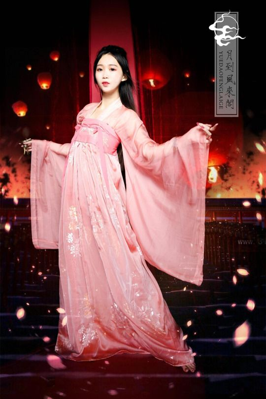 Hanfu (han chinese clothing) collection. The models are wearing Tang Dynasty-style ruqun/襦裙.