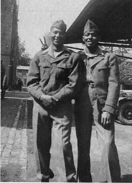 Army's Red Ball Express: Unsung Soldiers. Pictured are John Rockwell and John Houston. Houston was a driver in the Red Ball Express and the father of the late Whitney Houston.