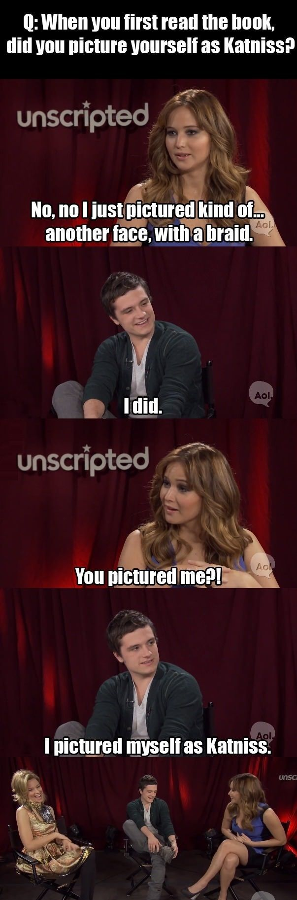 funny Jennifer Lawrence and Josh Hutcherson interview