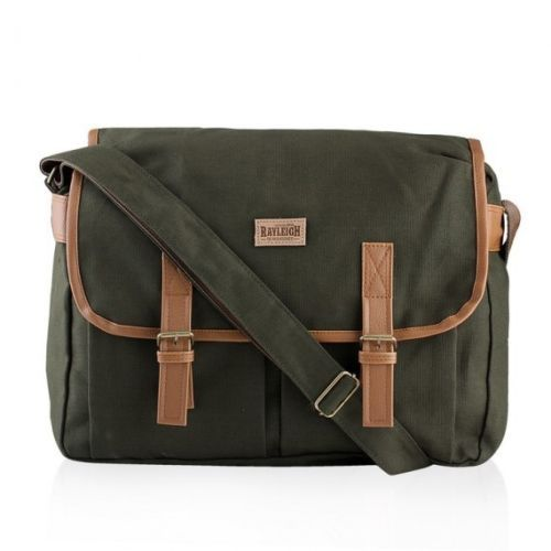 "Men's Canvas Military Satchel 14"" Laptop Shoulder Messenger School Travel Bag | eBay"
