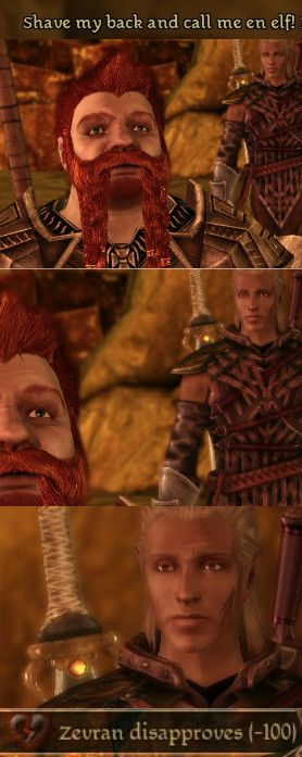Haha! Oghren and Zevran - Dragon Age: Origins