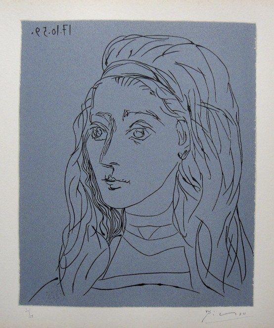 Best Art Lithographs Linocuts Paintings Prints Various - Picassos vintage light drawings pleasure behold