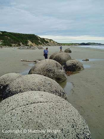 I took this picture of the amazing Moeraki Boulders, on Kohekohe Beach in New Zealand's South Island, in 2007.