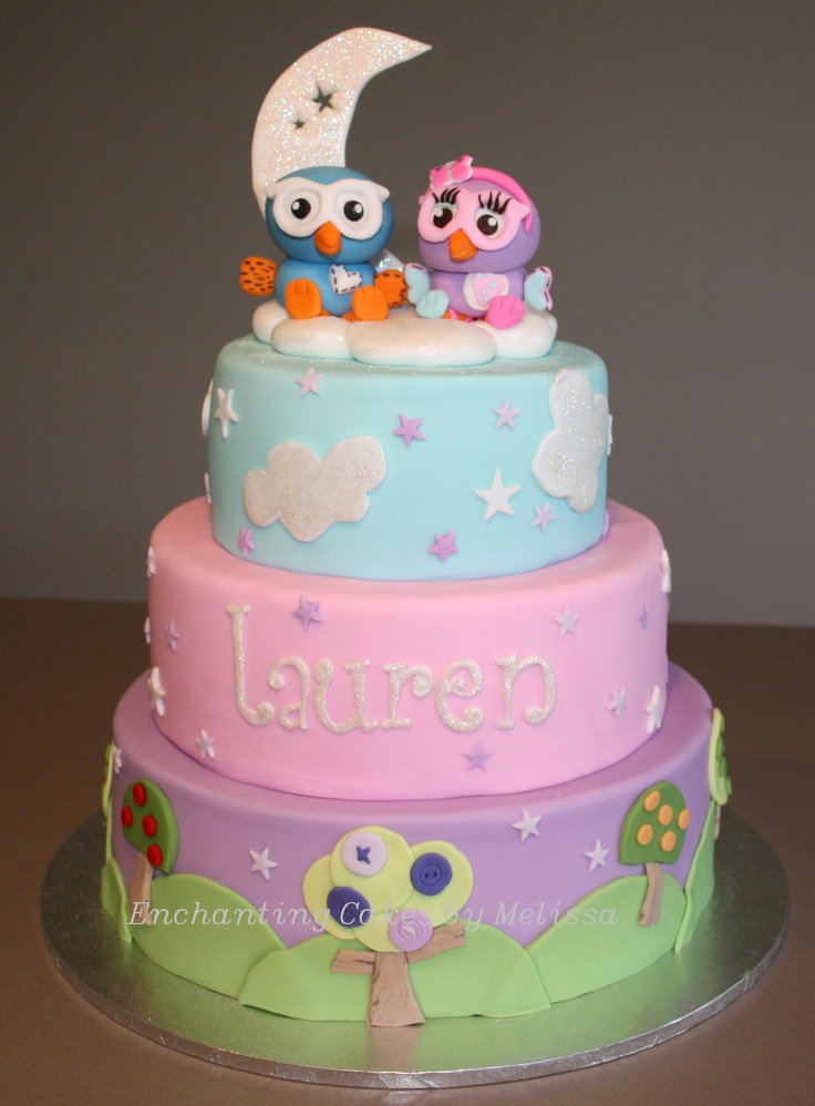 Children's Birthday Cakes - This is my first time uploading a pic to Cake Central and feeling a tad nervous, I hope you all like my Hoot and Hootabelle night / sunset cake. Thanks for looking xo