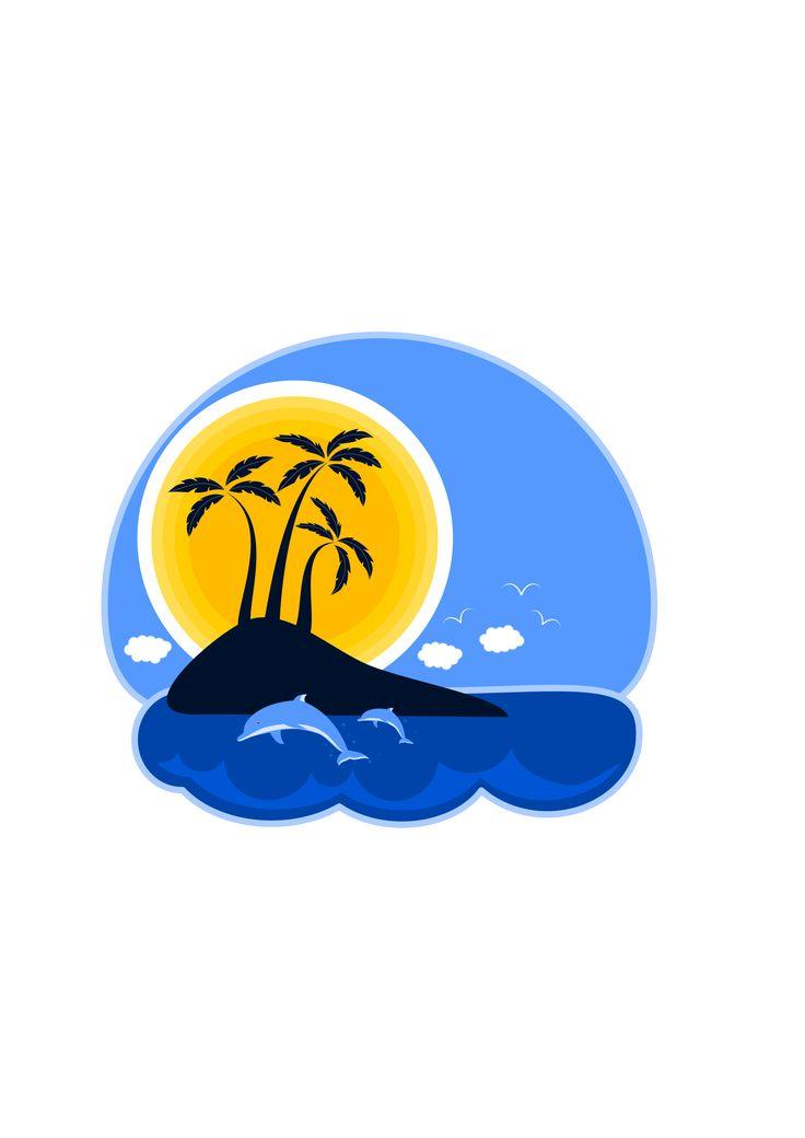 56 best verano piscina y playa vector images on - Piscina playa ...