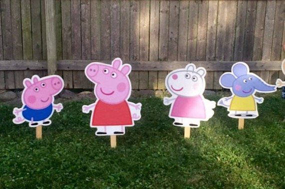 Peppa Pig Party Supplies Hanging Swirls Decorations Cutouts Birthday George