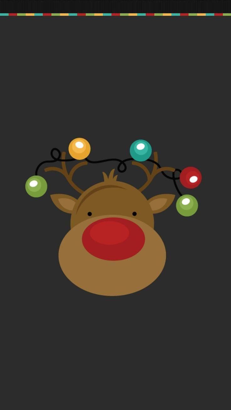 Sfondi Natalizi Renne.Renna Di Natale Carta Carta Natale Renna Renna Nel 2019