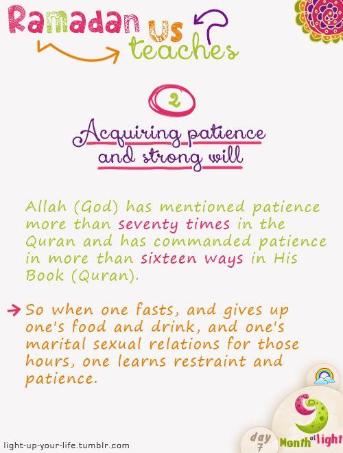 Month Of Light  Ramadan teaches us! Lesson 2