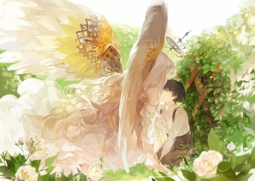 The Angel in the Garden by nineo