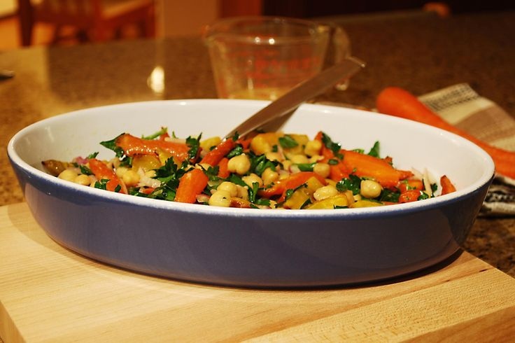 Roasted Beet, Carrot and Chickpea Salad