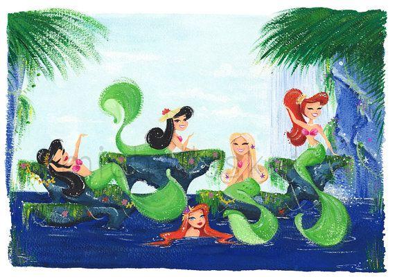 Mermaid Lagoon Fine Art Print Limited Edition