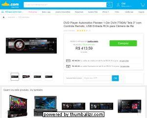 [Submarino] DVD Player Automotivo Pioneer 1 - Din DVH - 7780AV Tela 3 ´ com Controle Remoto, USB Entrada RCA para Câmera de Ré - de R$…